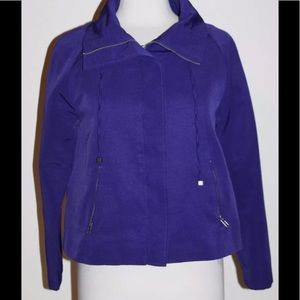 Chico's Full Zip Purple Jacket Size 0 = S Small 4